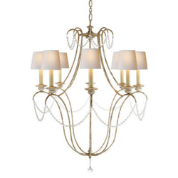 Visual Comfort CHC 1554OW-NP Chapman & Myers Montmarte Chandelier in Old White