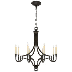 Visual Comfort CHC 1561AI Chapman & Myers Mykonos Small Chandelier in Aged Iron