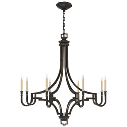 Visual Comfort CHC 1562AI Chapman & Myers Mykonos Large Chandelier in Aged Iron