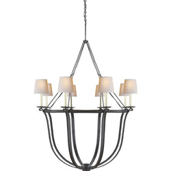 Visual Comfort CHC 1577AI-NP Chapman & Myers Lancaster Chandelier in Aged Iron