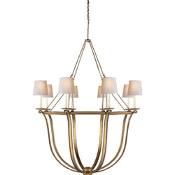 Visual Comfort CHC 1577GI-NP Chapman & Myers Lancaster Chandelier in Gilded Iron