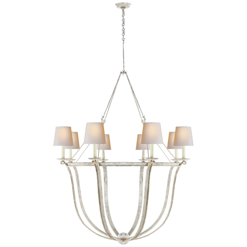 Visual Comfort CHC 1577OW-NP Chapman & Myers Lancaster Chandelier in Old White