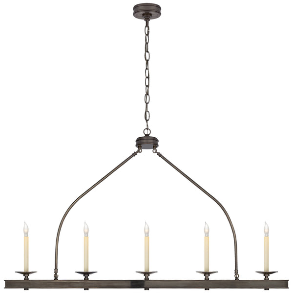 Visual Comfort CHC 1605BZ Chapman & Myers Modern Launceton Large Linear Pendant in Bronze