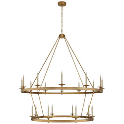 Visual Comfort CHC 1609AB Chapman & Myers Launceton XXL Two Tiered Chandelier in Antique-Burnished Brass