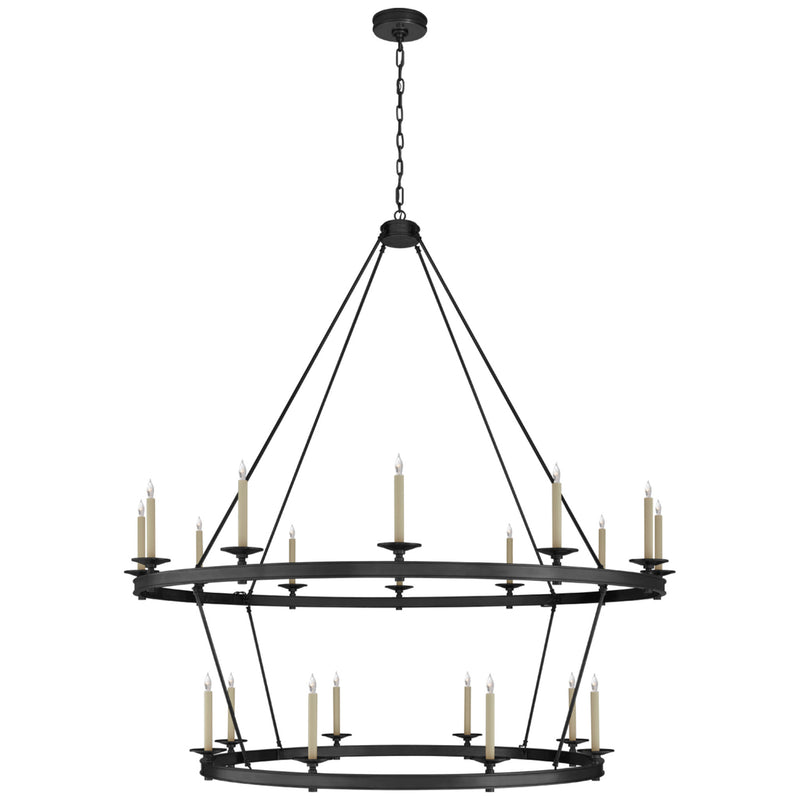 Visual Comfort CHC 1609BZ Chapman & Myers Launceton XXL Two Tiered Chandelier in Bronze