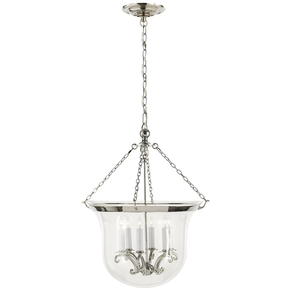 Visual Comfort CHC 2110PN Chapman & Myers Traditional Country Large Bell Jar Lantern in Polished Nickel