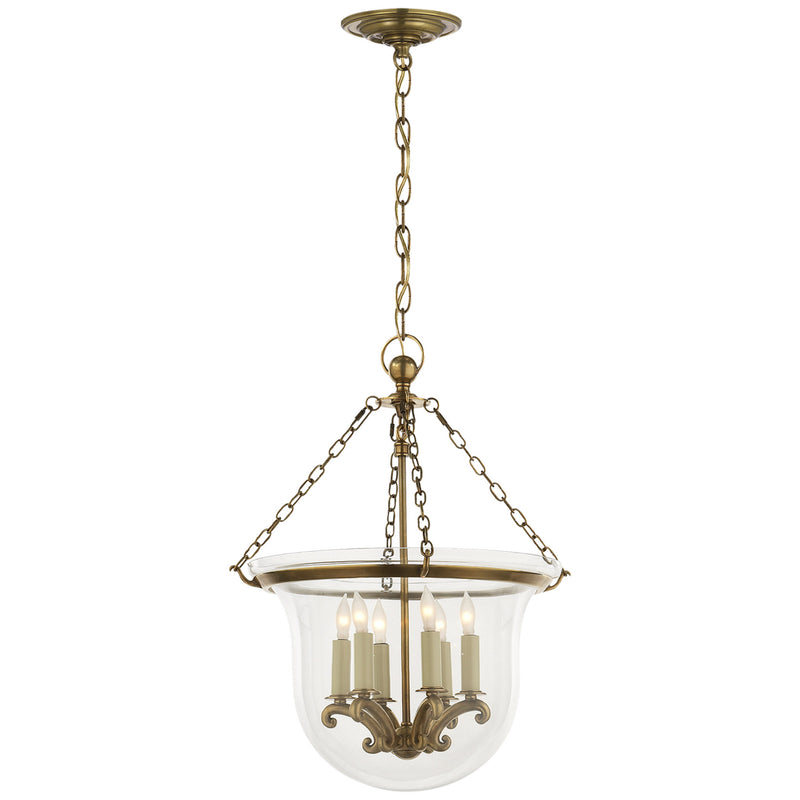 Visual Comfort CHC 2117AB Chapman & Myers Country Medium Bell Jar Lantern in Antique-Burnished Brass