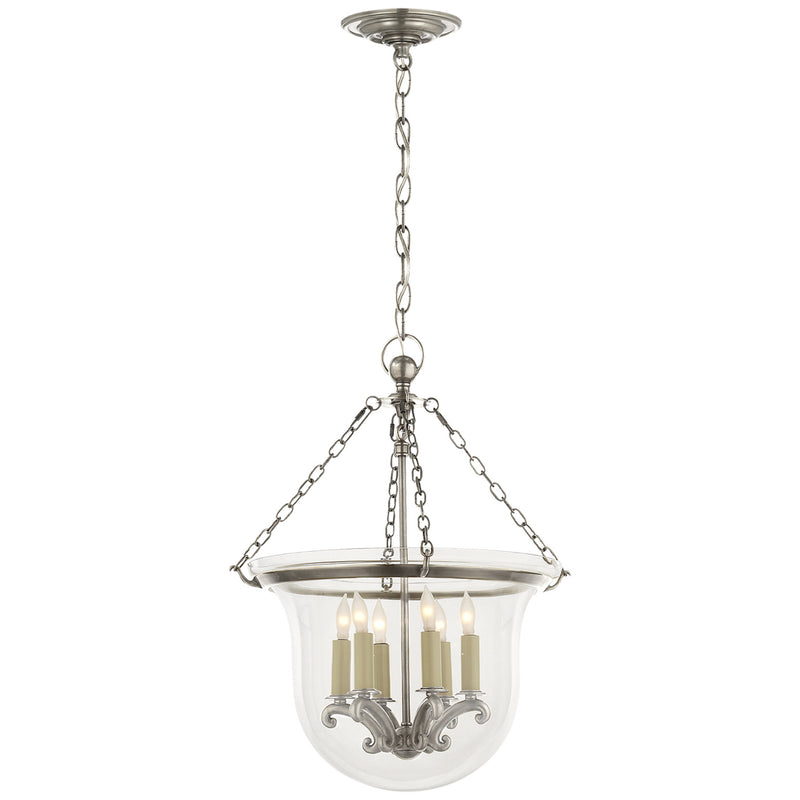 Visual Comfort CHC 2117AN Chapman & Myers Country Medium Bell Jar Lantern in Antique Nickel