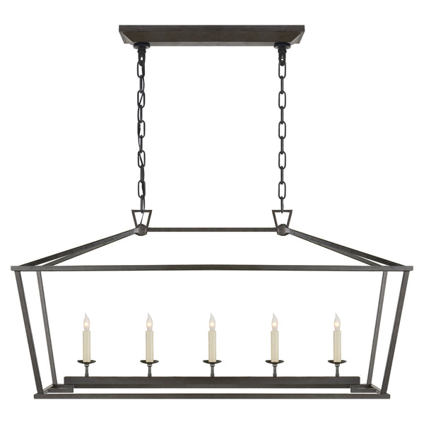 Visual Comfort CHC 2156AI Chapman & Myers Casual Darlana Medium Linear Lantern in Aged Iron