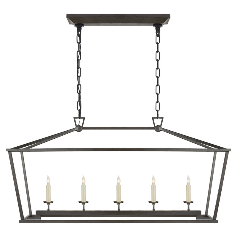 Visual Comfort CHC 2156AI Chapman & Myers Darlana Medium Linear Lantern in Aged Iron