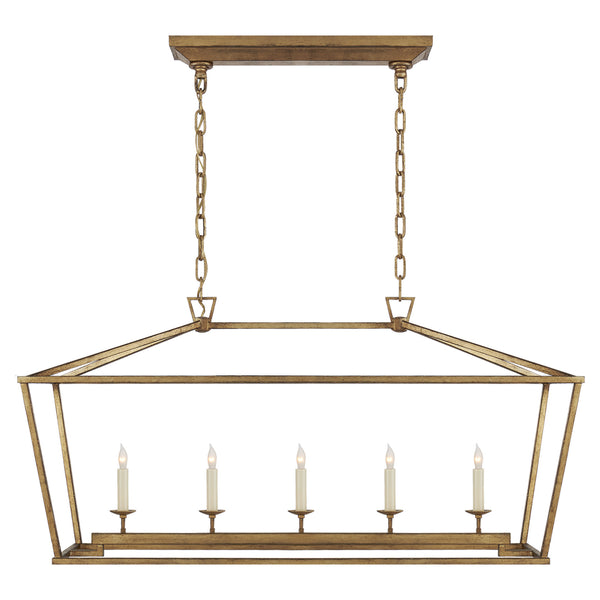 Visual Comfort CHC 2156GI Chapman & Myers Darlana Medium Linear Lantern in Gilded Iron