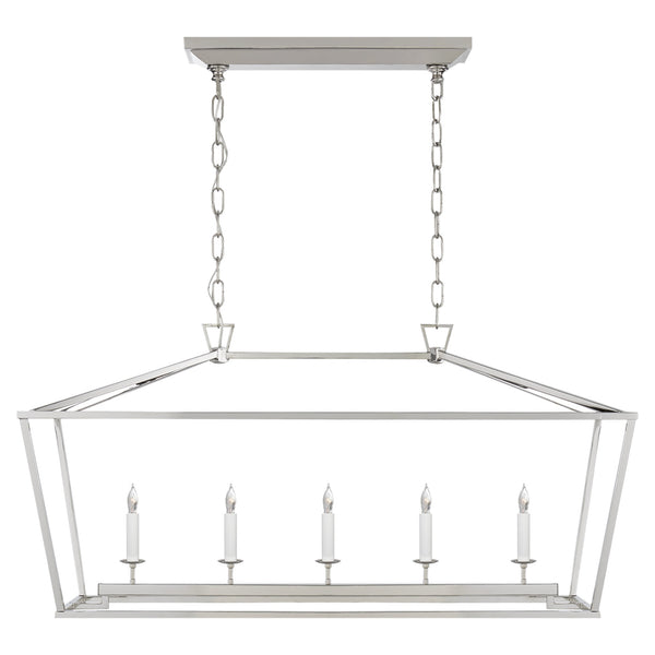 Visual Comfort CHC 2156PN Chapman & Myers Darlana Medium Linear Lantern in Polished Nickel