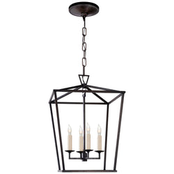 Visual Comfort CHC 2164AI Chapman & Myers Casual Darlana Small Lantern in Aged Iron