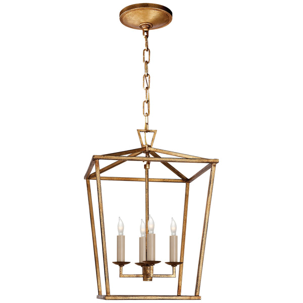 Visual Comfort CHC 2164GI Chapman & Myers Casual Darlana Small Lantern in Gilded Iron