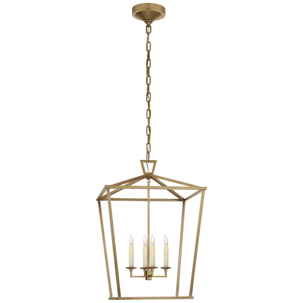 Visual Comfort CHC 2165AB Chapman & Myers Darlana Medium Lantern in Antique- Burnished Brass