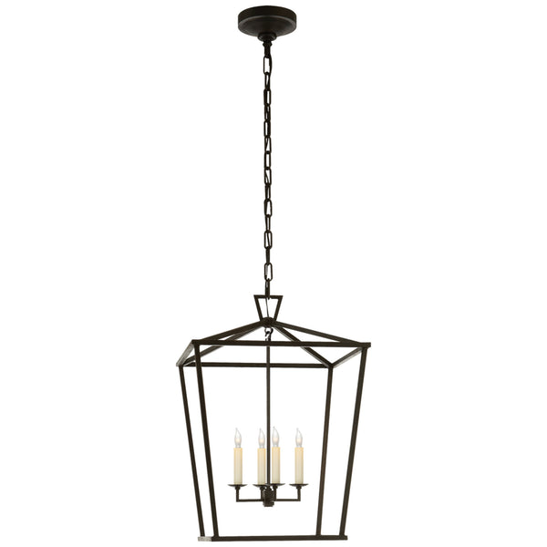 Visual Comfort CHC 2165AI Chapman & Myers Darlana Medium Lantern in Aged Iron