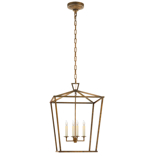 Visual Comfort CHC 2165GI Chapman & Myers Darlana Medium Lantern in Gilded Iron