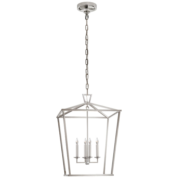 Visual Comfort CHC 2165PN Chapman & Myers Darlana Medium Lantern in Polished Nickel