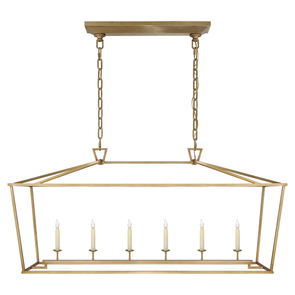 Visual Comfort CHC 2166AB Chapman & Myers Darlana Large Linear Lantern in Antique- Burnished Brass