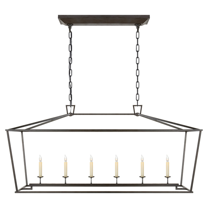 Visual Comfort CHC 2166AI Chapman & Myers Darlana Large Linear Lantern in Aged Iron