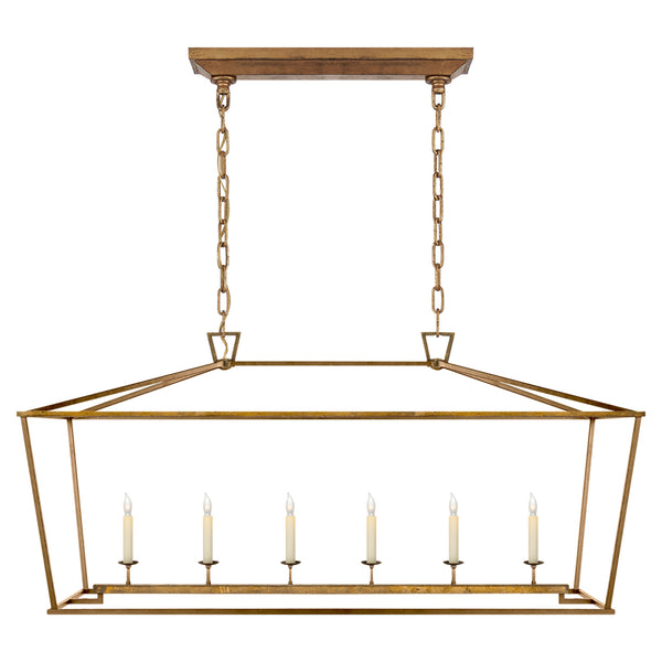 Visual Comfort CHC 2166GI Chapman & Myers Darlana Large Linear Lantern in Gilded Iron