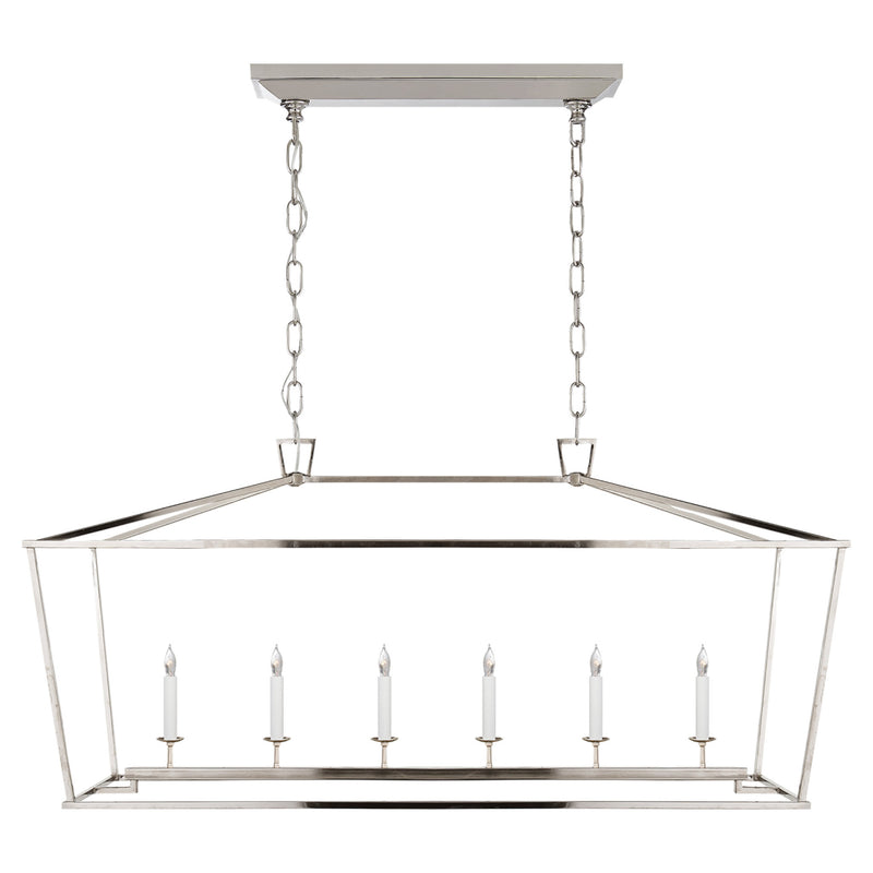 Visual Comfort CHC 2166PN Chapman & Myers Darlana Large Linear Lantern in Polished Nickel