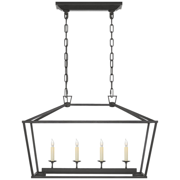 Visual Comfort CHC 2168AI Chapman & Myers Darlana Small Linear Lantern in Aged Iron
