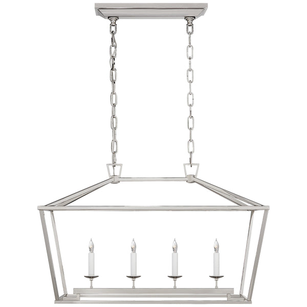 Visual Comfort CHC 2168PN Chapman & Myers Darlana Small Linear Lantern in Polished Nickel
