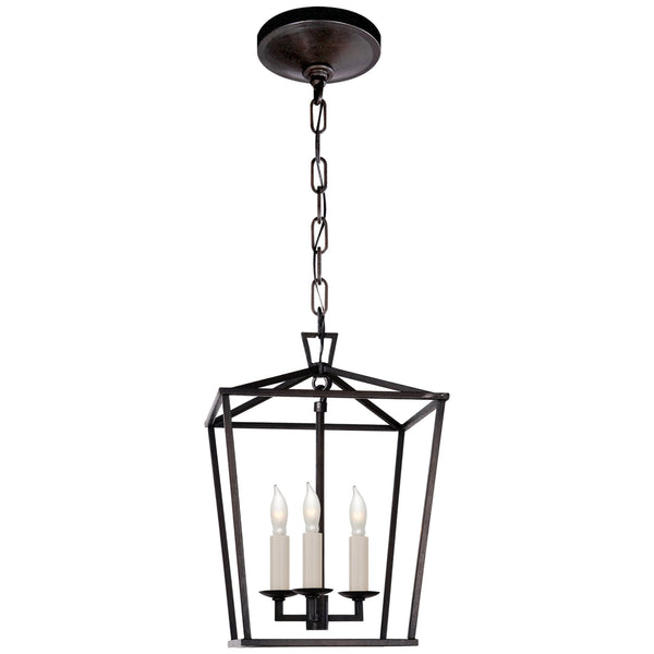 Visual Comfort CHC 2175AI Chapman & Myers Darlana Mini Lantern in Aged Iron