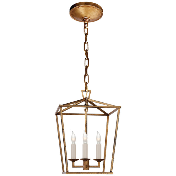 Visual Comfort CHC 2175GI Chapman & Myers Darlana Mini Lantern in Gilded Iron