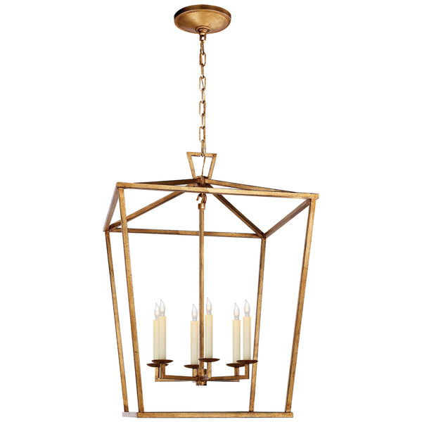 Visual Comfort CHC 2176GI Chapman & Myers Darlana Large Lantern in Gilded Iron