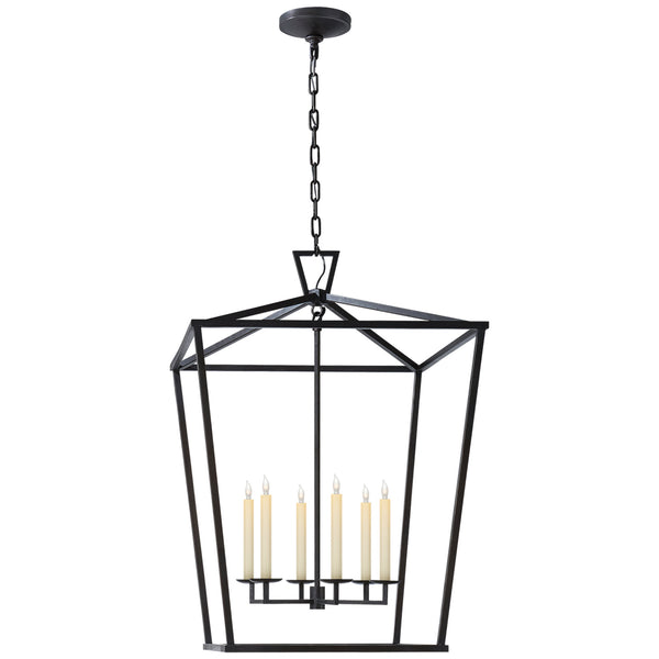 Visual Comfort CHC 2177AI Chapman & Myers Casual Darlana Extra Large Lantern in Aged Iron