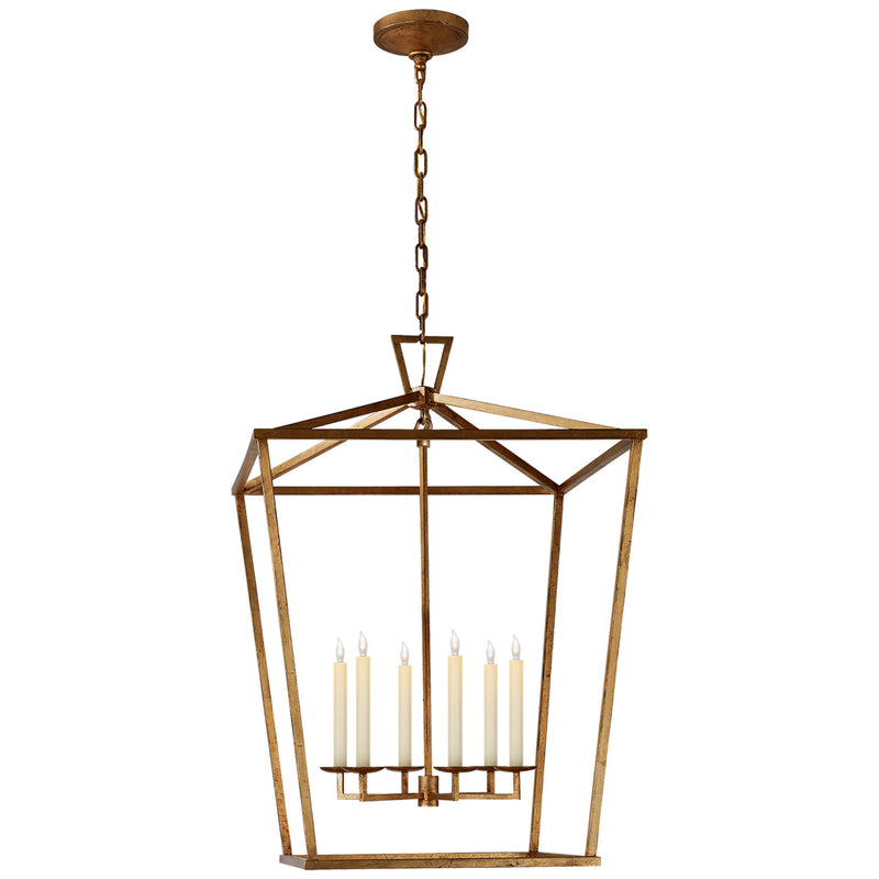 Visual Comfort CHC 2177GI Chapman & Myers Darlana Extra Large Lantern in Gilded Iron