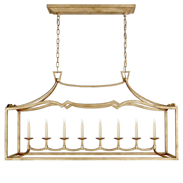 Visual Comfort CHC 2183GI Chapman & Myers Fancy Darlana Large Linear Pendant in Gilded Iron