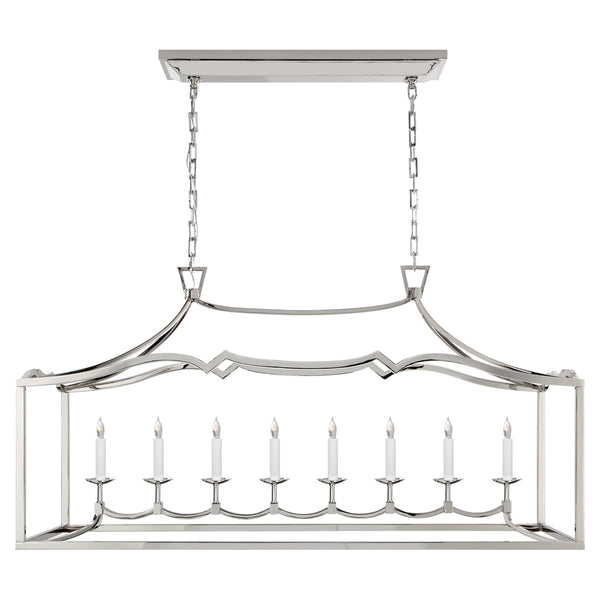 Visual Comfort CHC 2183PN Chapman & Myers Fancy Darlana Large Linear Pendant in Polished Nickel