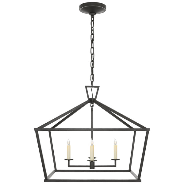Visual Comfort CHC 2187AI Chapman & Myers Darlana Medium Wide Lantern in Aged Iron