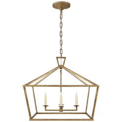 Visual Comfort CHC 2187GI Chapman & Myers Casual Darlana Medium Wide Lantern in Gilded Iron