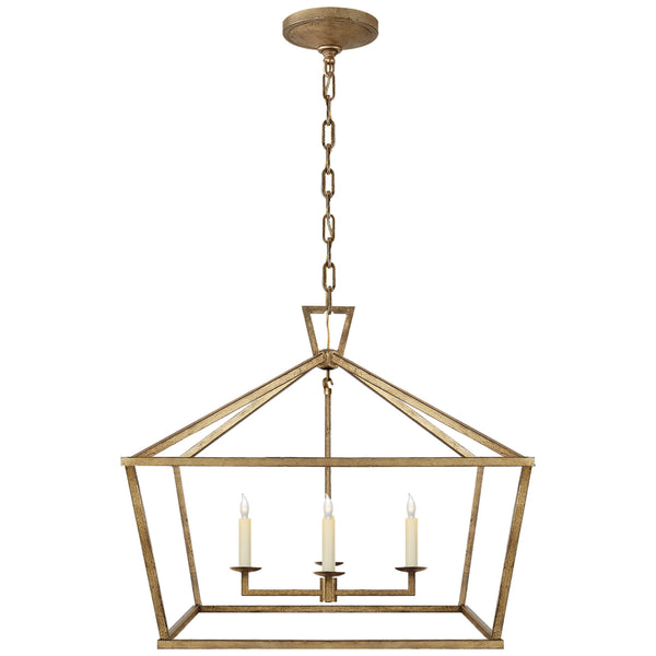 Visual Comfort CHC 2187GI Chapman & Myers Darlana Medium Wide Lantern in Gilded Iron