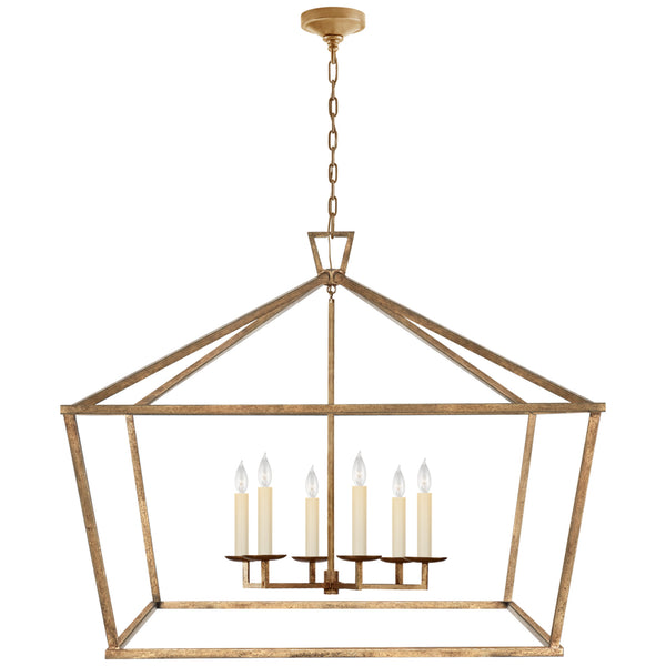 Visual Comfort CHC 2191GI Chapman & Myers Darlana XXL Wide Lantern in Gilded Iron