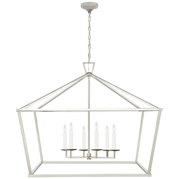 Visual Comfort CHC 2191PN Chapman & Myers Darlana XXL Wide Lantern in Polished Nickel