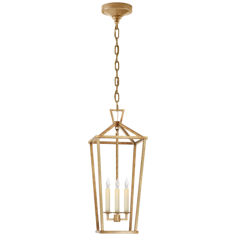 Visual Comfort CHC 2194GI Chapman & Myers Darlana Large Tall Lantern in Gilded Iron
