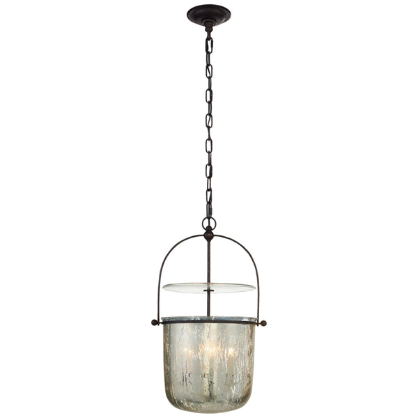 Visual Comfort CHC 2269AI-MG Chapman & Myers Casual Lorford Small Smoke Bell Lantern in Aged Iron