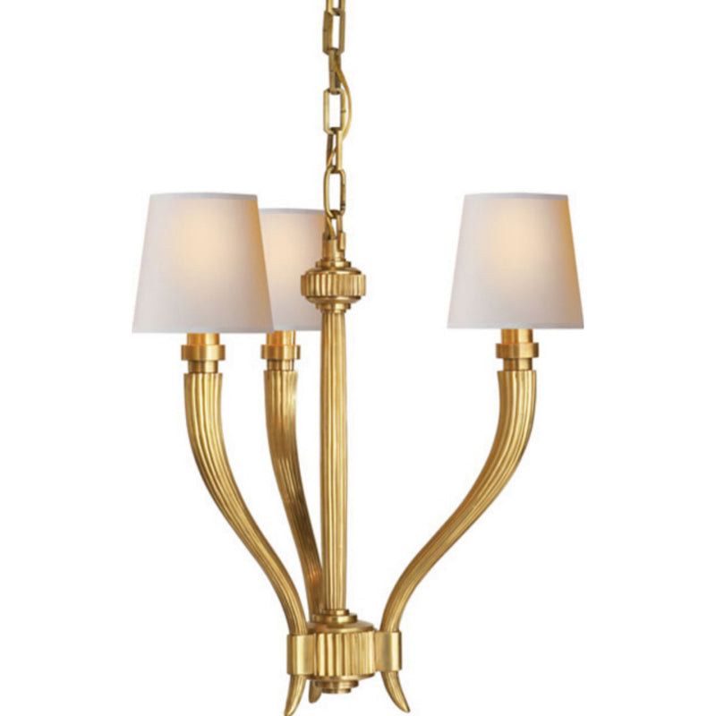Visual Comfort CHC 2461AB-NP Chapman & Myers Ruhlmann Small Chandelier in Antique-Burnished Brass