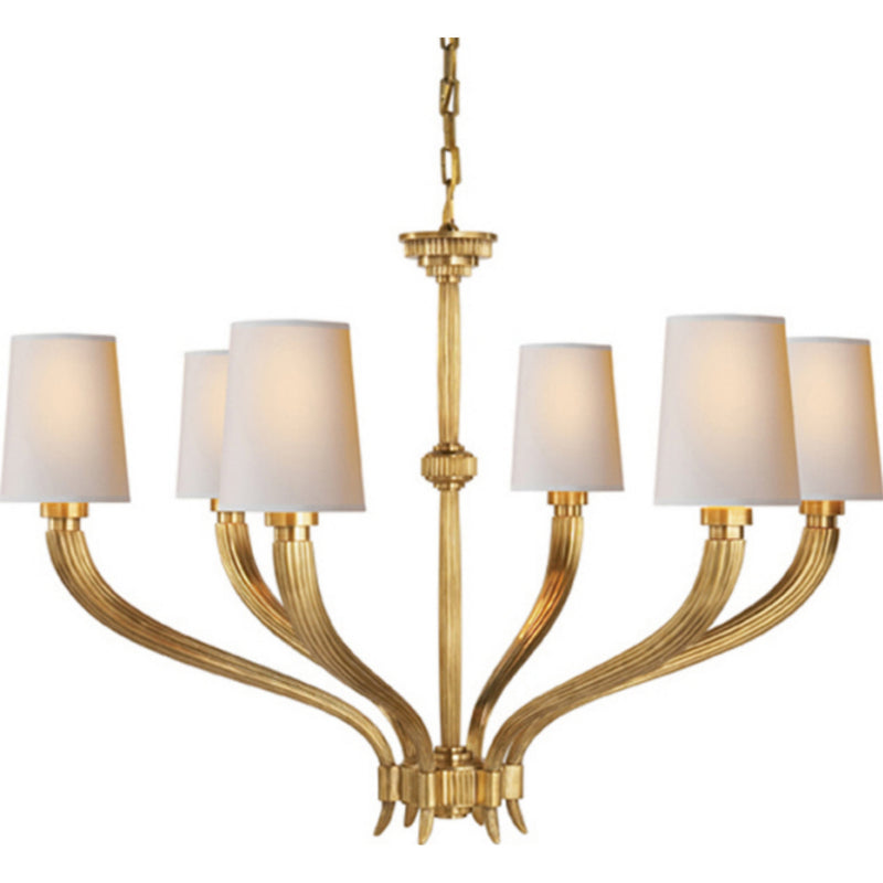Visual Comfort CHC 2462AB-NP Chapman & Myers Ruhlmann Large Chandelier in Antique-Burnished Brass