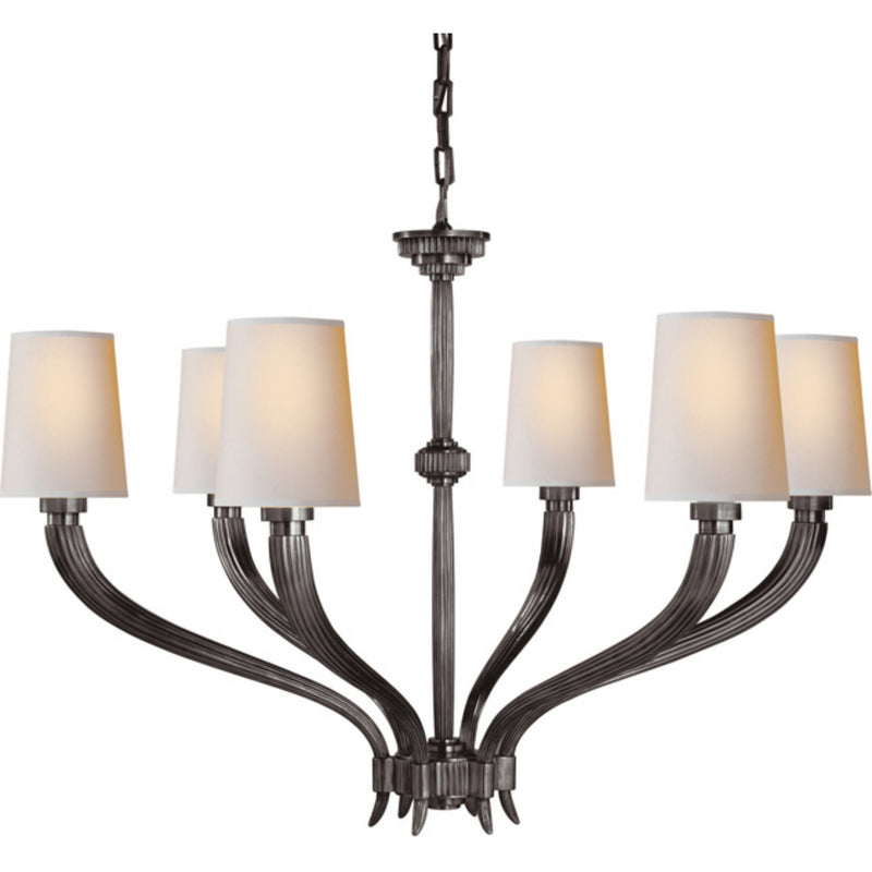 Visual Comfort CHC 2462BZ-NP Chapman & Myers Ruhlmann Large Chandelier in Bronze
