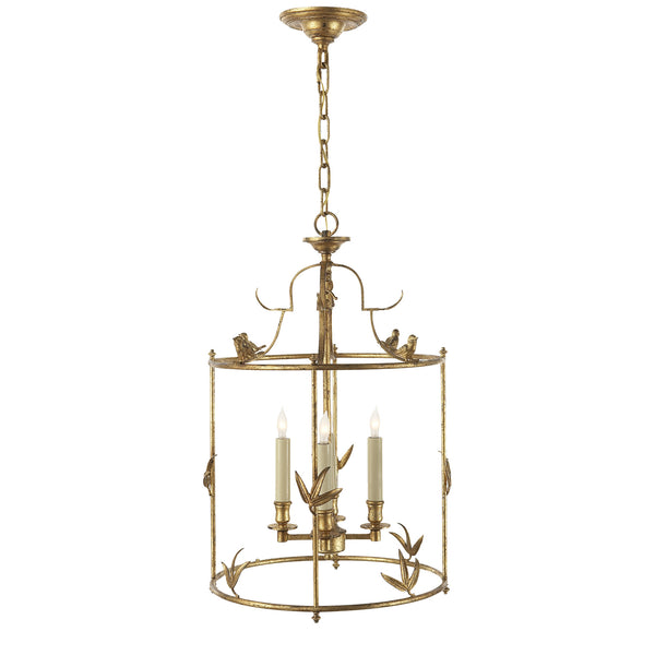 Visual Comfort CHC 3108GI Chapman & Myers Diego Grande Classical Perching Bird Lantern in Gilded Iron