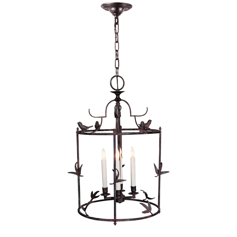 Visual Comfort CHC 3108R Chapman & Myers Diego Grande Classical Perching Bird Lantern in Hand Painted Rust Finish