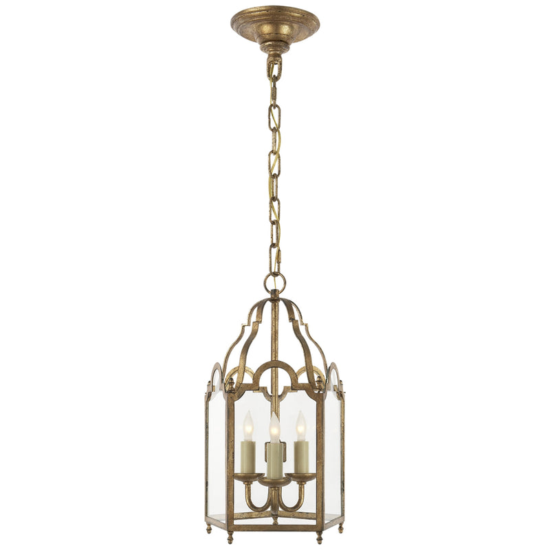 Visual Comfort CHC 3413GI Chapman & Myers French Market Small Lantern in Gilded Iron