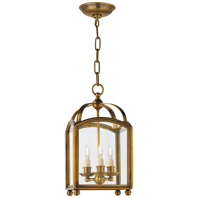 Visual Comfort CHC 3420AB Chapman & Myers Arch Top Mini Lantern in Antique-Burnished Brass