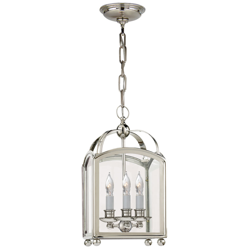 Visual Comfort CHC 3420PN Chapman & Myers Arch Top Mini Lantern in Polished Nickel